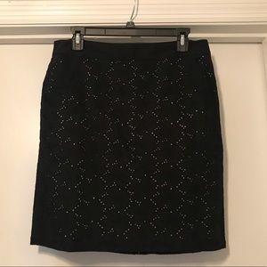 Ann Taylor Loft embroidered pencil skirt